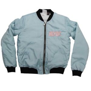 ⚡️AC/DC Girls Baby Blue Bomber Jacket - Size 13/14